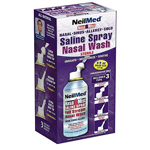 Neilmed Nasa Mist All-in-one Saline Spray - Nasal, Nebenhöhle, Allergie 177ml (Spray Engen)