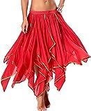 Bauchtanz Rock Rot Orientalische Kostüme Tanzkleid Damen