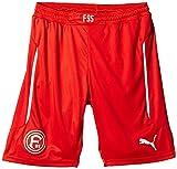 Puma Kinder Hose Fortuna Düsseldorf Shorts Promo with Innerslip Red-White 176