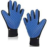 Silverback 2X Tierhaar Handschuh Pflegehandschuh Zum Entfernen von Tier Haare Fellflege Tierpflege Massage für Hund Katze Blau