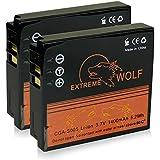 Bundle - 2x Power Batería Panasonic CGA-S005 / Fuji NP-70 / Leica BP-DC4 / Pentax D-Li106 / Ricoh DB-60   DB-65 para Panasonic Lumix DMC-FC01   DMC-FX01   DMC-FX3   DMC-FX07   DMC-FX8   DMC-FX9   DMC-FX10   DMC-FX12   DMC-FX50   DMC-FX100   DMC-FX150   DMC-LX1   DMC-LX2   Fuji FinePix F20   FinePix F40   FinePix F40fd y mucho más...