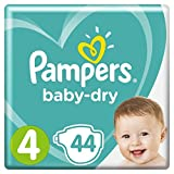 Pampers - Baby Dry - Couches Taille 4 (9-14 kg) - Pack Géant (x44 couches)