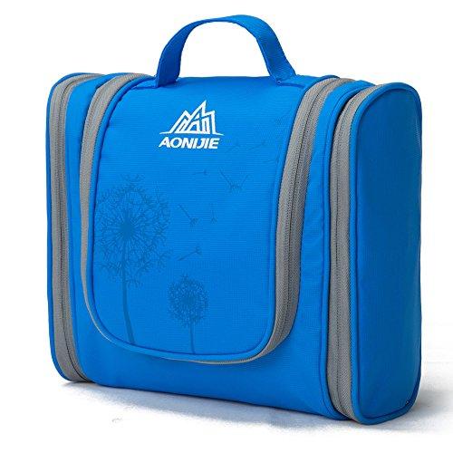 Bolso de tocador – Hie Bolsa para lavar Bolsa de cosméticos de afeitar para hombres y mujeres - Bolsa de viaje para lavar(azul)