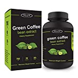 Sinew Nutrition Green Coffee Beans Extract 700 mg (90 Count), 100% Pure