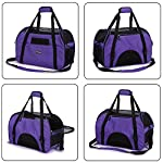purple pet carrier for dogs cats comfort travel tote soft sided bag with mat Purple Pet Carrier for Dogs Cats Comfort Travel Tote Soft Sided Bag with Mat 519E9k0TsxL