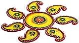 Aapno Rajasthan Wood and Clay Keri Floor Art (48.26 cm x 48.26 cm)