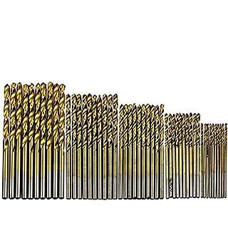 Beautylife 50 tlg Spiralbohrer Set HSS Bohrer Set Titanium Metallbohrer Handspiralbohrer Micro Bohrersets Werkzeuge Profi Drill Bit für Holz,Metall,Glas