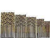 North Suite Una Serie di 50 Punte elicoidali rivestite in Titanio, Foro Aperto, Trapano Dritto, Combinazione di impugnature Rotonde