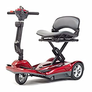 Pro Rider Travelite Electric Folding Compact Mobility Scooter, Red