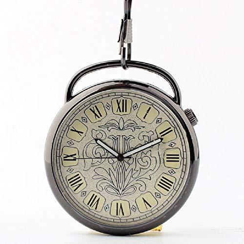 Q store Pocket watch Herren Damen Universal Retro Einfache Taschenuhr Student ohne Deckel Taschenuhr mit Kette Taschenuhr