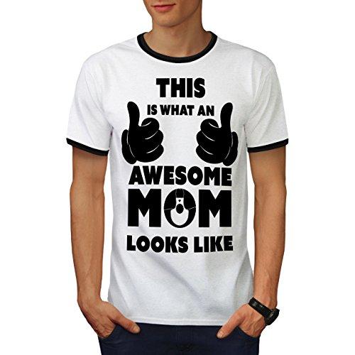 Cool Komisch Männer T-Shirt Zurück Mutter Grafikdesign-T-Stück ()
