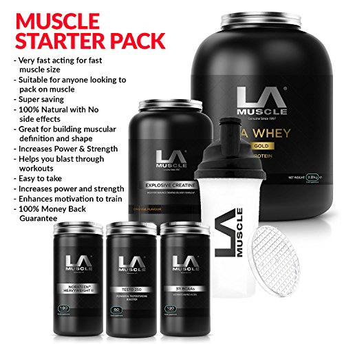 LA-Muscle-Muscle-Building-Starter-Pack-RRP-315-Amazon-Special-Price-JUST-120-Fast-results-suitable-for-anyone-looking-to-pack-on-serious-muscle-size-definition-strength-and-power-100-Money-back-guaran