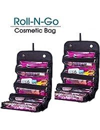 Manogyam Roll N Go Travel Buddy Cosmetic Toiletry Bag (Black)