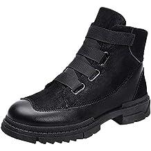 LILICAT☃ Zapatos de Herramientas de Corte Alto Retro para Hombre, de Estilo Casual,