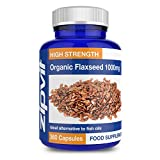 Flaxseed Oil Capsules 1000mg | 360 Softgels | Highest Strength & Purity | Organic | FULL YEARS SUPPLY from Zipvit