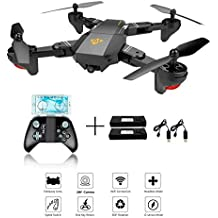 XS809 RC plegable Quadcopter Drone con Altitude Hold FPV VR Wifi Gran angular 720P 2MP HD Camera 2.4GHz 6-Axis Gyro Headless Mode XS809 Drone