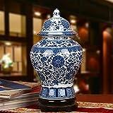 BEITAI Traditionelle Chinesische Antike Keramikvase Living Restaurant Tisch Center Schlafzimmer Büro Hotel Bar Wohnkultur Dekorative Vase, 48 cm X 25 cm X 25 cm (18,90 in X 9,84 in X 9,84 in)