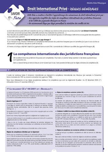 Droit International Privé - Règles générales