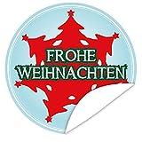 Weihnachtsbaum   Aufkleber rund   9,5 cm   inkl.