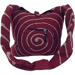 Sadhu Bag 'espiral'-rojo/sadhubag, Hippie Bolsa
