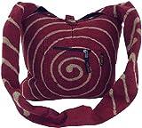 Guru-Shop Bolsa de Espiral Sadhu - Rojo, Unisex - Adultos, Algodón, Tamaño:One Size,...