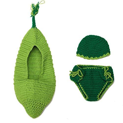 BUIOR Baby Foto-Requisiten für Neugeborene, Häkelmütze, Hose, Set für Jungen und Mädchen Gr. One Size, Cute (Pod Baby Kostüm)