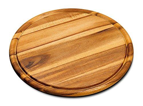 10er SET KESPER 28444 Fleischteller Ø 30 cm aus FSC®-zertifiziertem Akazienholz / Holzteller / Pizzateller / Schneidebrett - 2
