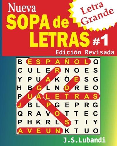 Nueva SOPA de LETRAS #1 (Letra Grande)