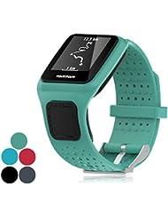 iFeeker Zubehör Ersatz Soft Silikon Gel Uhrenarmband Armband Sport Armband für TomTom GPS Sportuhr Runner / Runner + HRM / Golfer / Cardio Multi-Sport GPS-Sportuhr (One Size)