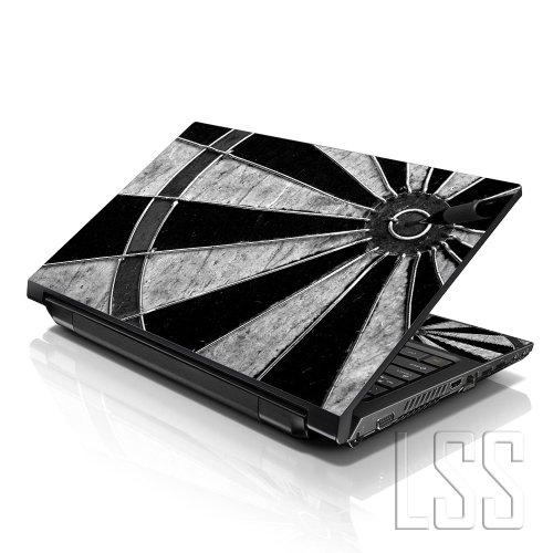 LSS (17-17,3 Zoll) Notebook Laptop Skin Aufkleber für 16,5 cm, 17 Zoll, 17,3 Zoll, 18,4, 19 Zoll, Apple, Asus, Acer, HP, Dell, Lenovo, Asus, Compaq, inkl. 2 Wrist Pad Target