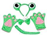 Mignon Grenouille Vert Bandeau Noeud Papillon Queue Gants Costume 4Pièces pour fête...