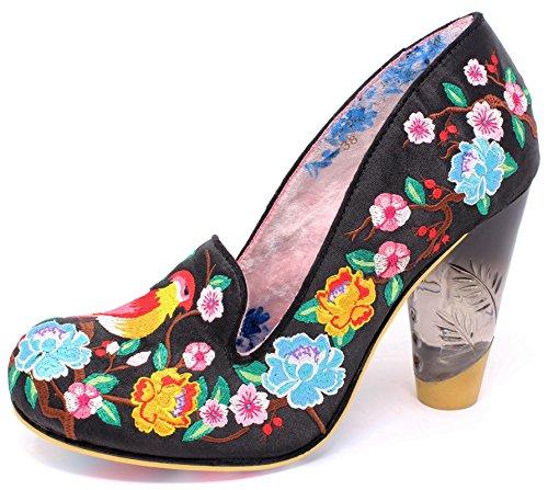 Irregular Choice Zapatos de Vestir de Material Sintético Para Mujer, Color Negro, Talla 41 EU