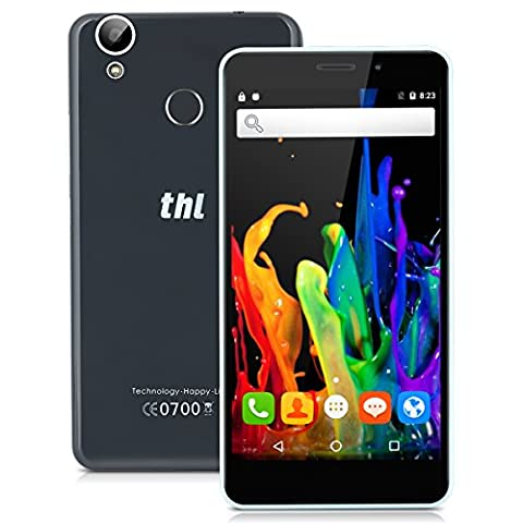 THL T9 5.5 Zoll 4G-LTE-Smartphone Android 6.0 Dual SIM Quad cores 1.3GHz 1GB RAM 8GB ROM 5MP + 2MP Dual Kamera Handy ohne Vertrag Fingerprint WIFI GPS