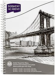 Derwent Academy Visual Art Diary Sketch Pad 80 Pages, 110 GSM (A5 Portrait)