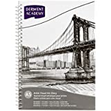 Derwent Academy Visual Art Diary Sketch Pad, 110 GSM Acid Free Paper 80 Pages (A5 Portrait)