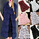 Wawer Winter Thick Coat for Women,Women Casual Winter Warm Faux Fur Long Outwear Cardigan Gilet Jacket , Ladies Elegant Thick Waistcoat Vest Coat