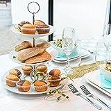 Etagere 3-stöckig ROUND weiß Porzellan 17-21-26 cm Tischdekoration gedeckter Tisch Landhaus
