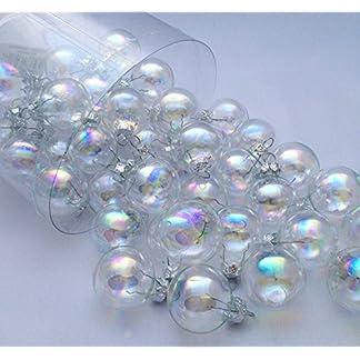 Treasured-Memory-45tlg-Kugeln-Seifenblasen-Irisierend-Regenbogen-Weihnachtsschmuck-Weihnachsdeko-Hnger-Weihnachten-Dekoration-Advent