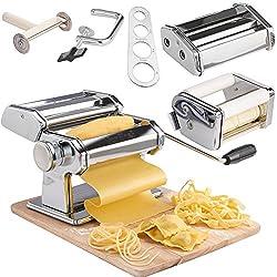 VonShef Manuelle Pastamaschine Nudelmaschine – hausgemachte, frische Pasta