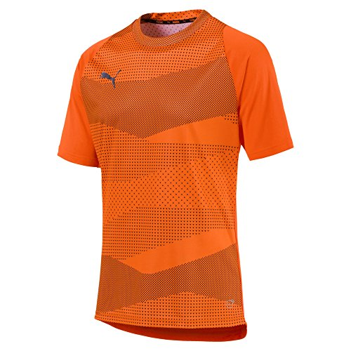 PUMA Herren ftblNXT Graphic Shirt Core T, Shocking Orange Black, L