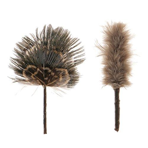 Piumino Manico Nero Attrezzo Pulito Feather Duster Miniatura Casa Delle Bambole Mobili Accessori Dollhouse