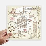 DIYthinker I Love London Gran Bretagna Big Ben piazzale degli autobus Adesivi 20cm parete Valigia Laptop Motobike Decal 4 pezzi 20 cm x 20 cm