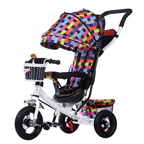 Triciclo Per Bambini Adatto 1-5 Anni Baby Baby Bike Triciclo Trolley Bicicletta Per Bambini Pieghevole Smorzamento,Color1