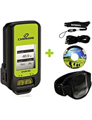 G-PORTER GP-102+ GPS- Multifunktionsgerät (grün), Set mit Universal Armband (Oberarm/ Unterarm)