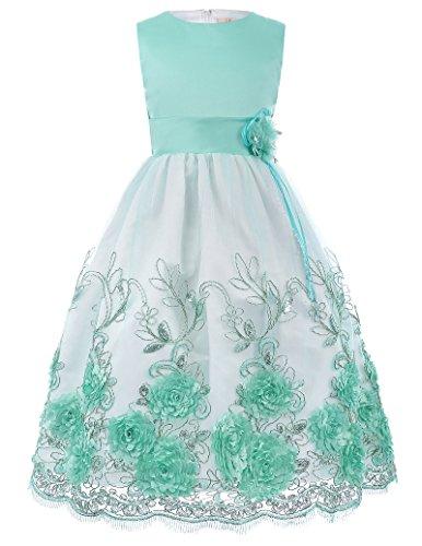 GRACE KARIN Suess Blumenmaedchen Kleid Festlich Kleid Kommunion Kleid 9-10 Jahre CL10418-2