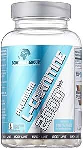 BWG Premium L-Carnitine 2000, hochdosiert, Definitionsphase, Body Line, 100 Kapseln, 1er Pack (1 x 100g Dose)