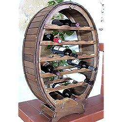 Botellero madera 6-24botellas de pie/hängend Color Marrón/Natural Barnizada.