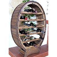 Weinregal madera 6 - 24 botellas de pie / suspendidas braun decapados / naturaleza barnizados