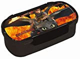 Dragons Portamerenda Sdentato / Hiccup e flamme (Lunch Box Toothless and Hiccup with flame motiv)