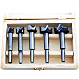 XTools 5 Pc Forstner Flat Bottom Blind Hole Bit Set - 15,20,25,30,35mm by Xtools